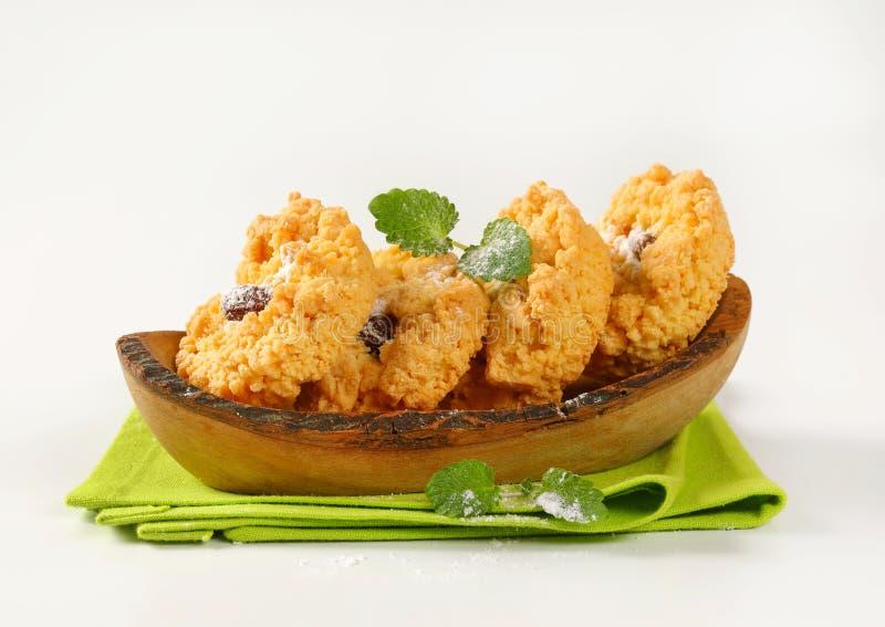 Cookies pequenas da migalha da amêndoa foto de stock royalty free