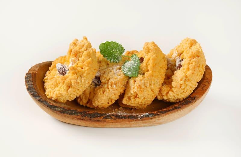 Cookies pequenas da migalha da amêndoa fotografia de stock