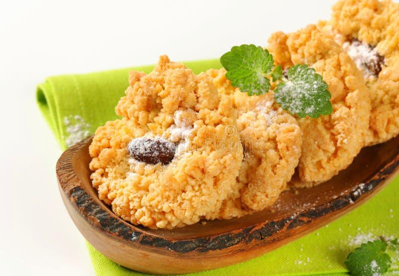 Cookies pequenas da migalha da amêndoa imagem de stock royalty free