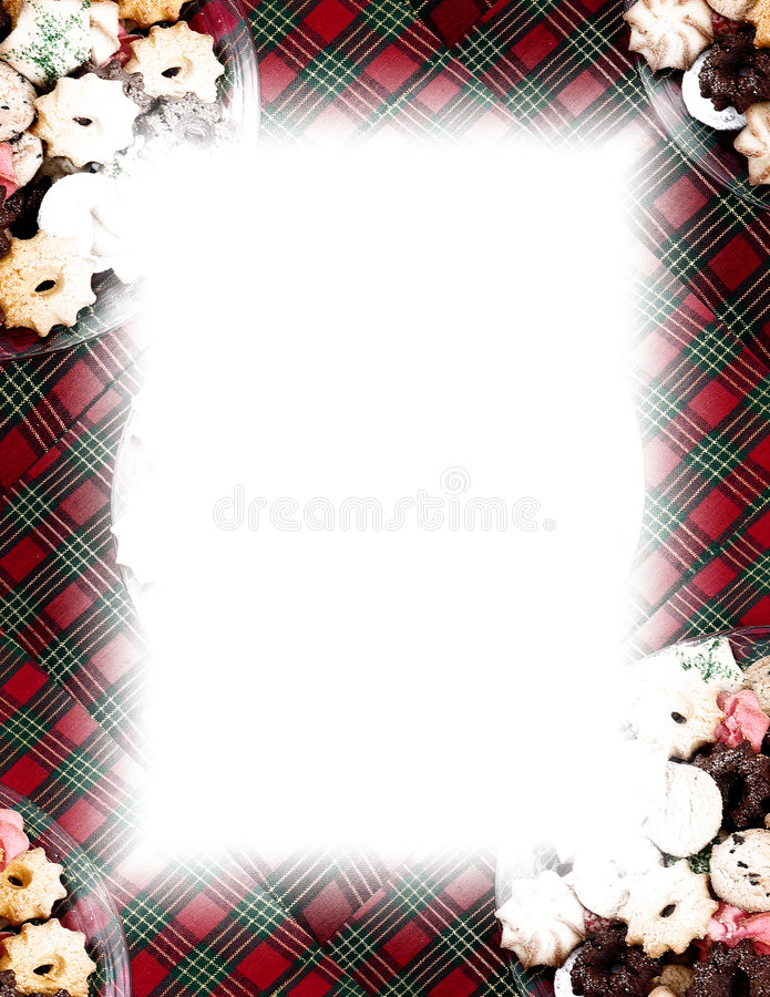 Download Cookies & Plaid Border On White Stock Illustration - Image: 41750