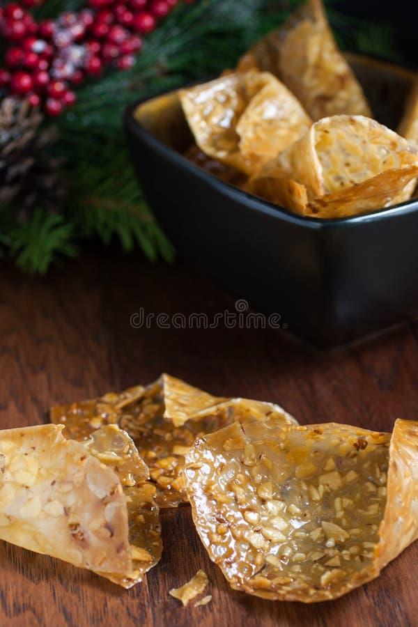 Cookies roladas do laço imagem de stock
