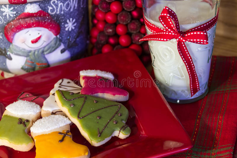 Cookies for Santa stock photo