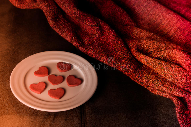 Cookies in shape of heart royalty free stock image