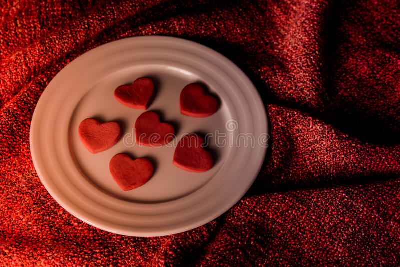 Cookies in shape of heart royalty free stock photos