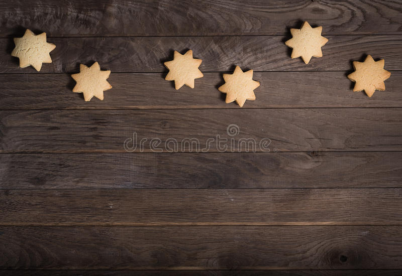 Cookies in shape of star stock photos