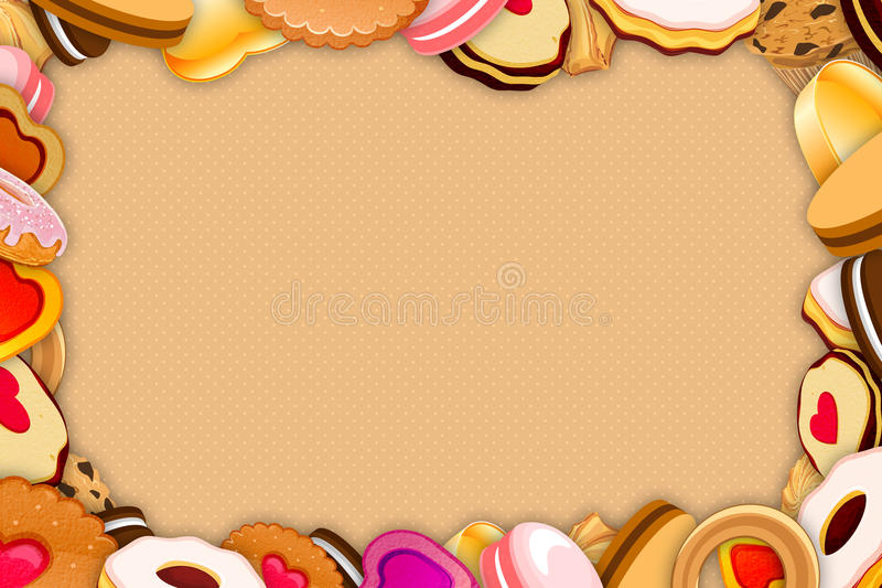 Cookies and sweets Frame vector illustration