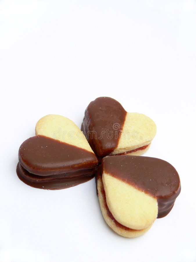 Cookies on Valentine stock images