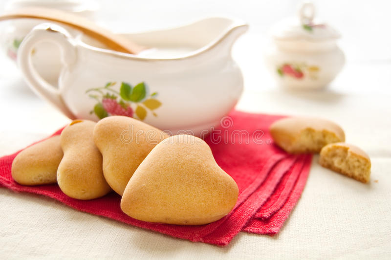 Cookies for Valentine's Day stock photography