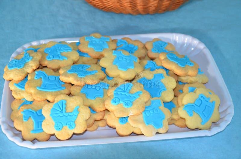 Cookies vitrificadas coloridas foto de stock