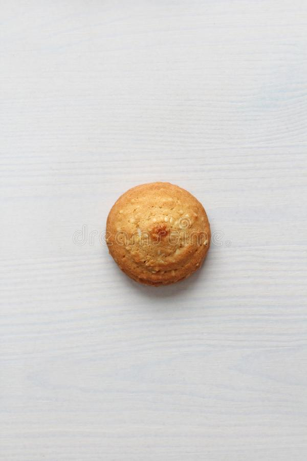 Cookies on a white background, similar to female nipples. nipples in the form of cookies. Humor, double meaning royalty free stock photography