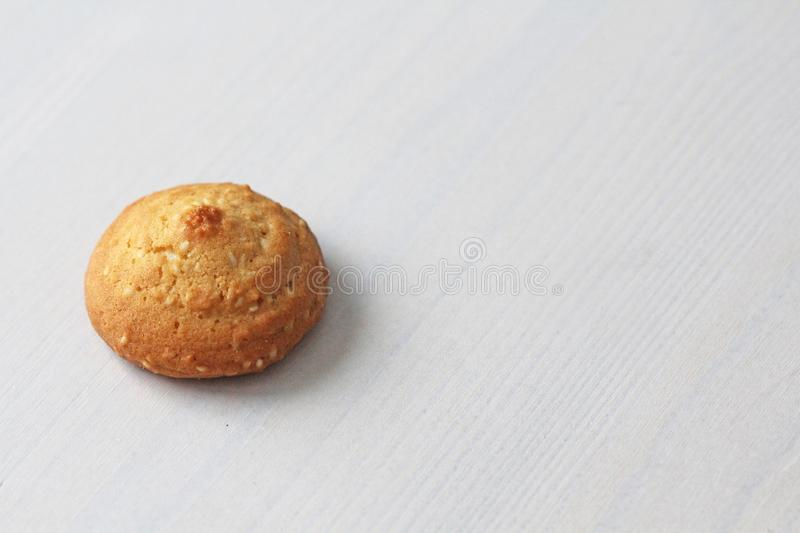 Cookies on a white background, similar to female nipples. nipples in the form of cookies. Humor, double meaning stock photo