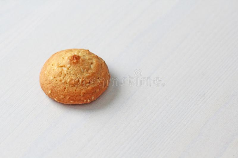Cookies on a white background, similar to female nipples. Sexy nipples in the form of cookies. Humor, double meaning royalty free stock photography