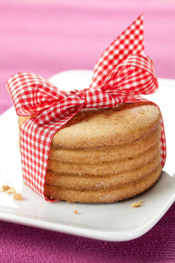Free Cookies With Ribbon Stock Photography - 17889432