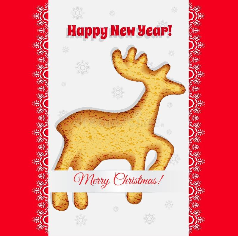 Cookiesin рождества форма оленя vector бесплатная иллюстрация