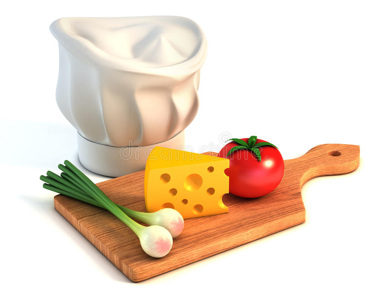 Cooking 3d concept. On white royalty free illustration