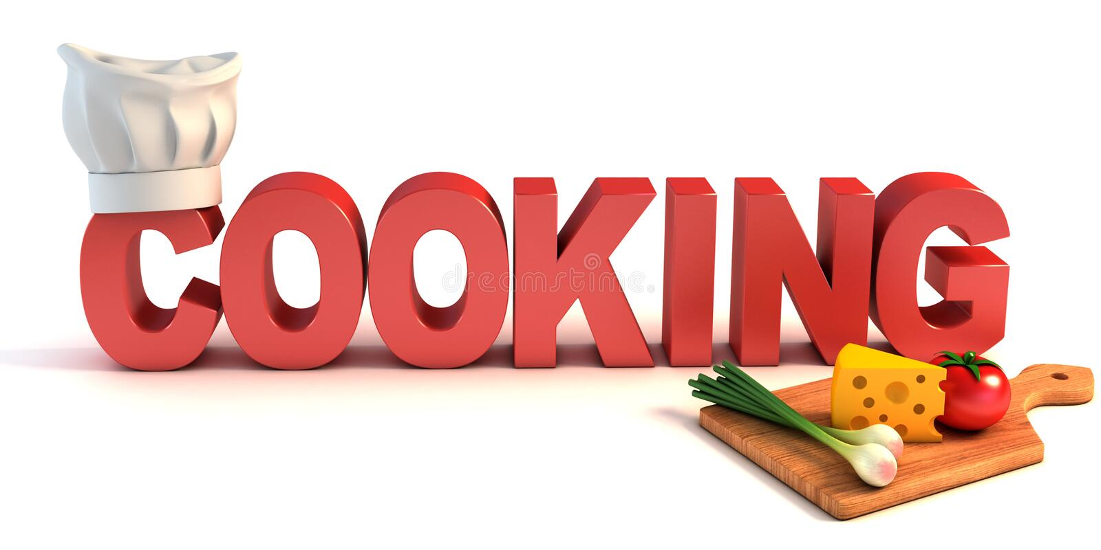 Cooking 3d concept. On white background vector illustration