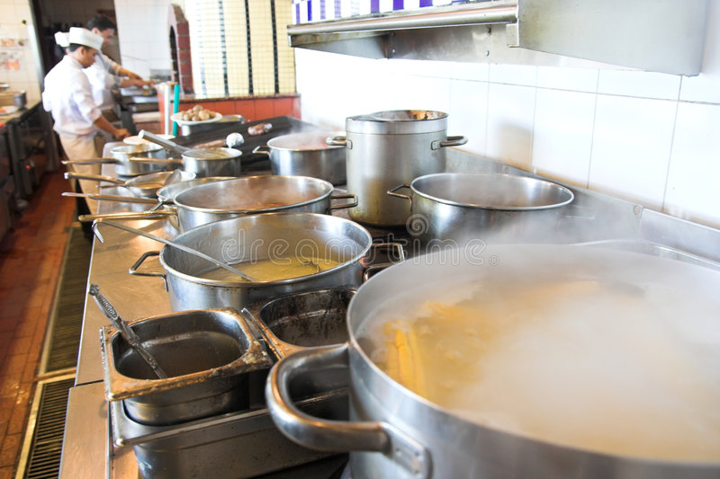 Download Cooking stock photo. Image of fire, pans, cuisine, hotelier - 6932874