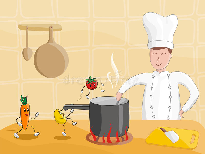 Download Cooking stock vector. Image of meal, illustration, fantasy - 9485756