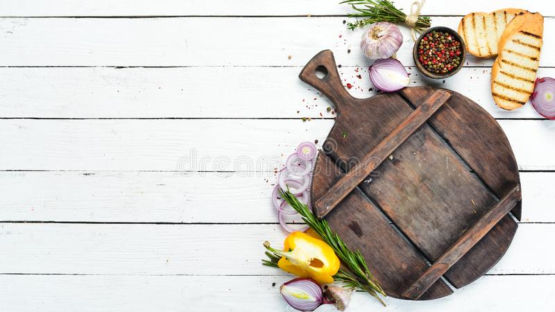Cooking Banner Background With Spices And Vegetables Top View Stock Photo Image Of Fresh Board 168099206