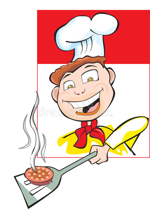 Download Cooking A Burger Patty, Illustration Stock Vector - Image: 25966319