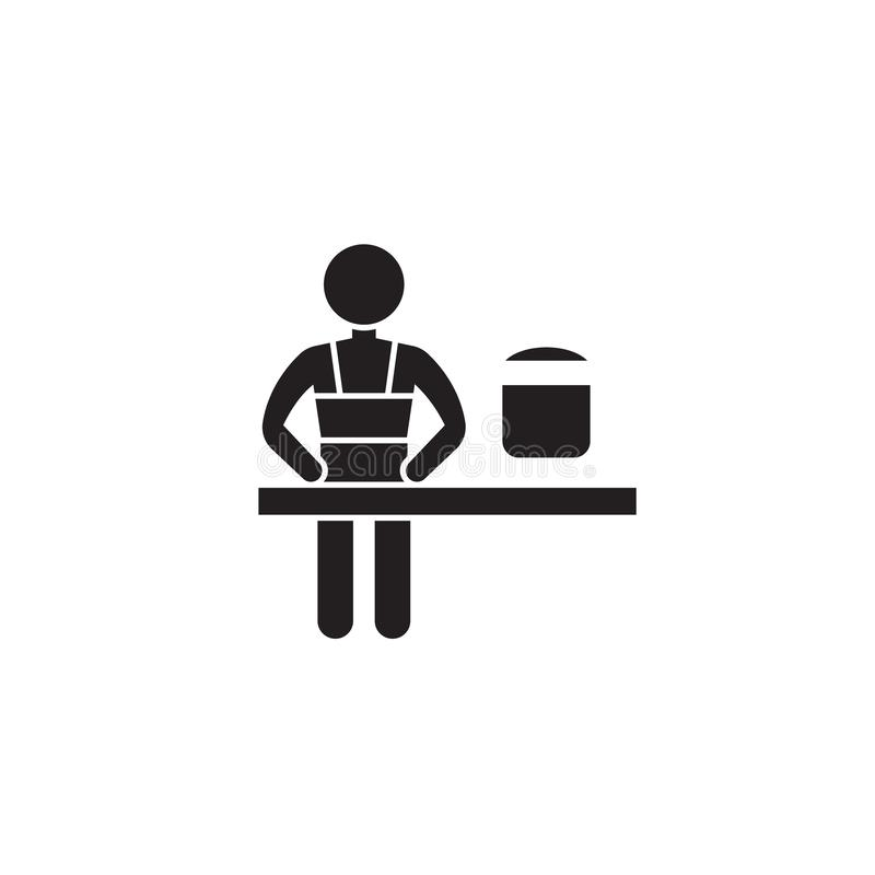 Cooking class black vector concept icon. Cooking class flat illustration, sign. Symbol vector illustration