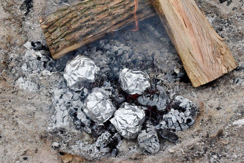 Cooking Coals stock photos