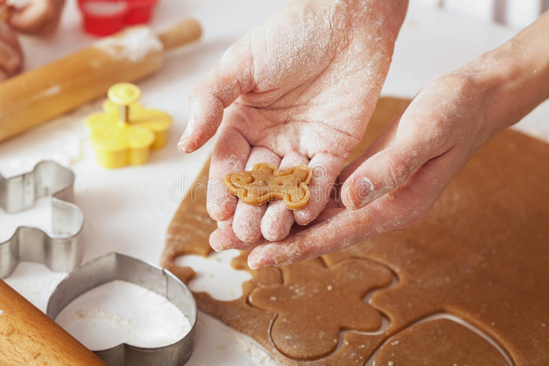 Cooking cookies royalty free stock photos