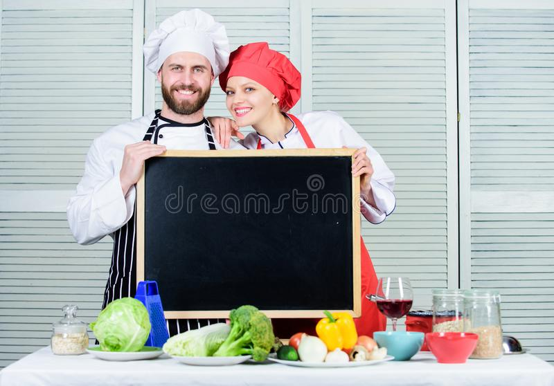 Cooking delicious meal recipe. Cooking menu for today. List ingredients cooking dish. Family restaurant. Opening soon stock photography