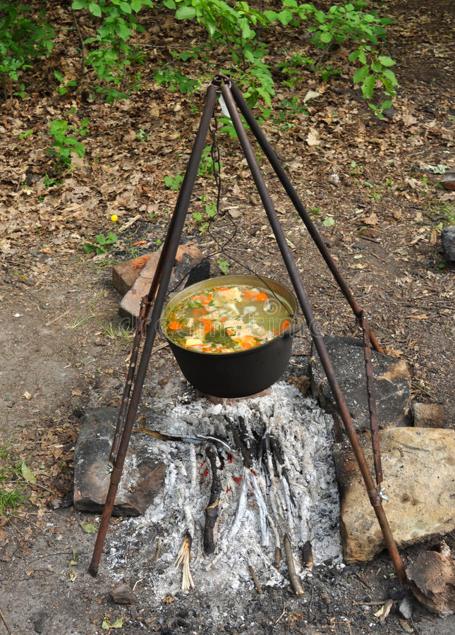 Download Cooking Fish Soup Stock Photo - Image: 26256820