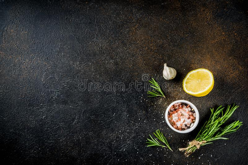 Cooking food ingredients background stock photos