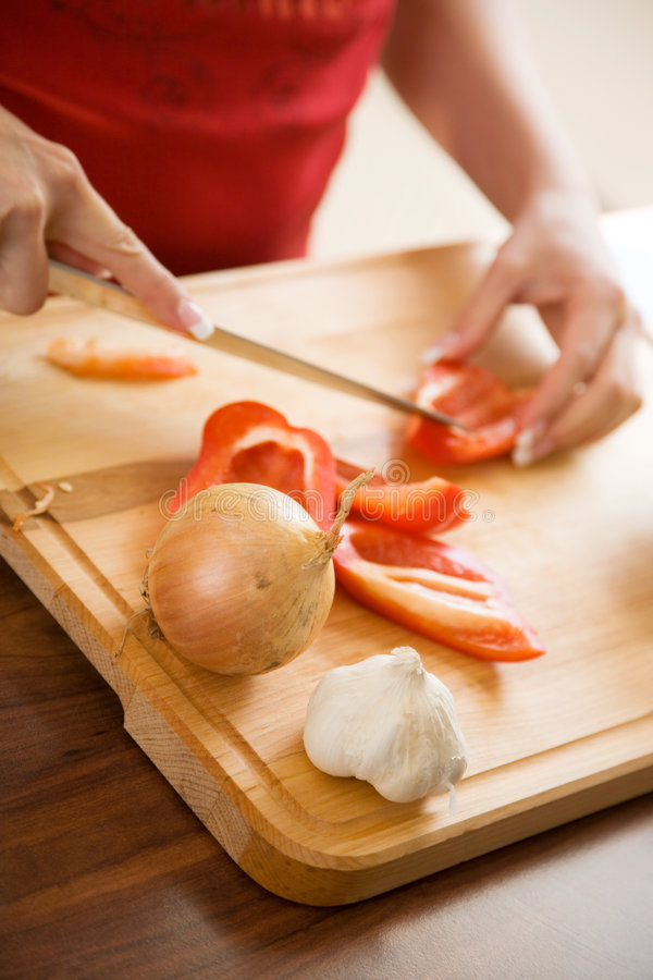 Cooking healthy food royalty free stock photo