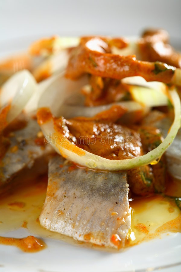 cooking herring oil zdjęcie stock
