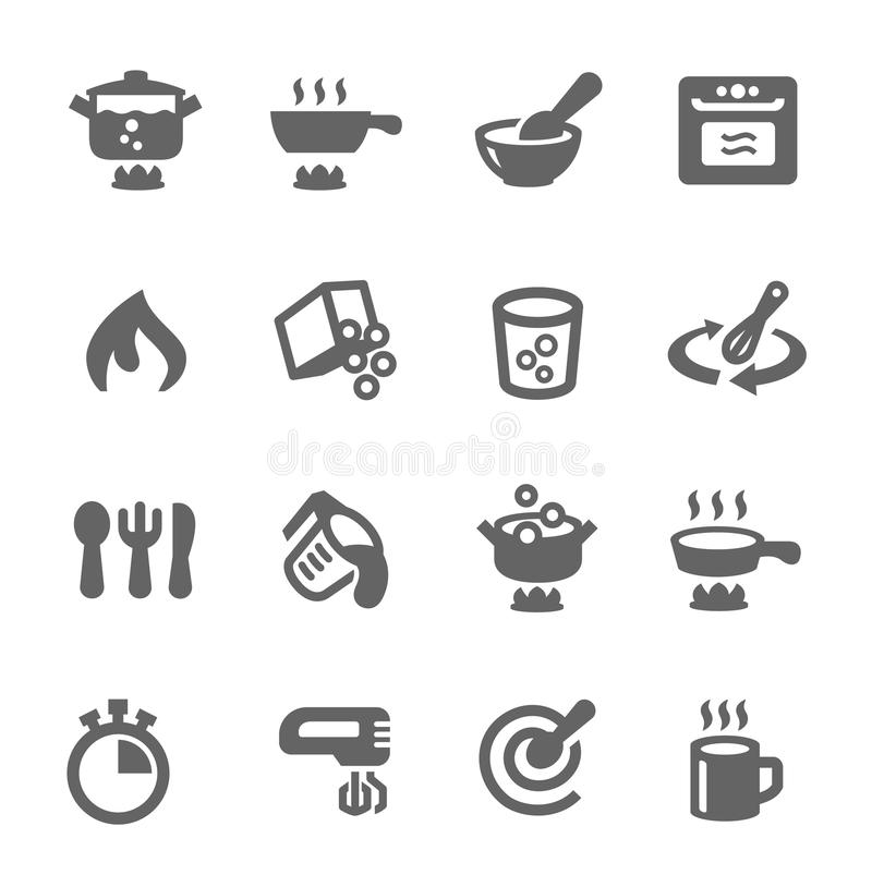 Cooking icons stock illustration