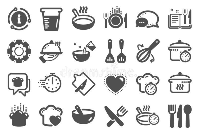 Cooking icons. Boiling time, Frying pan and Kitchen utensils. Vector. Cooking icons. Boiling time, Frying pan and Kitchen utensils. Fork, spoon and knife icons vector illustration