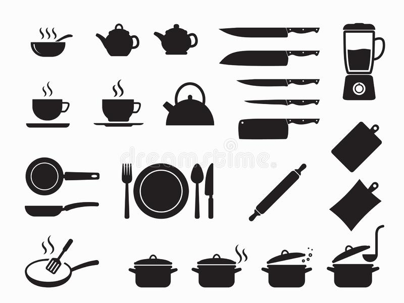 Cooking icons set, Kitchen utensils and tool icon set. Vector illustration isolated on white background vector illustration