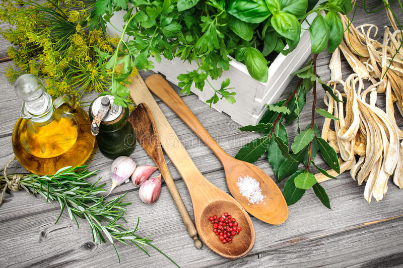 Cooking ingredients stock images