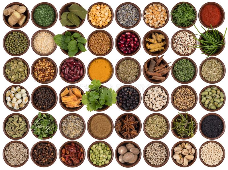 Cooking ingredients to add flavor and seasoning royalty free stock photography