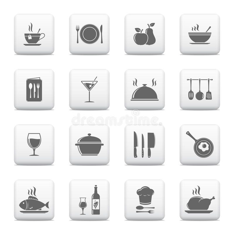 Cooking & kitchen icons stock illustration