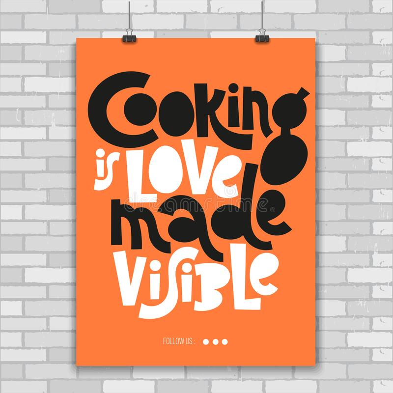 Cooking class quotes stock illustration