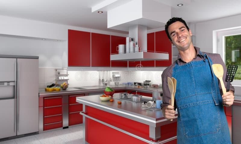 Cooking man royalty free stock photo