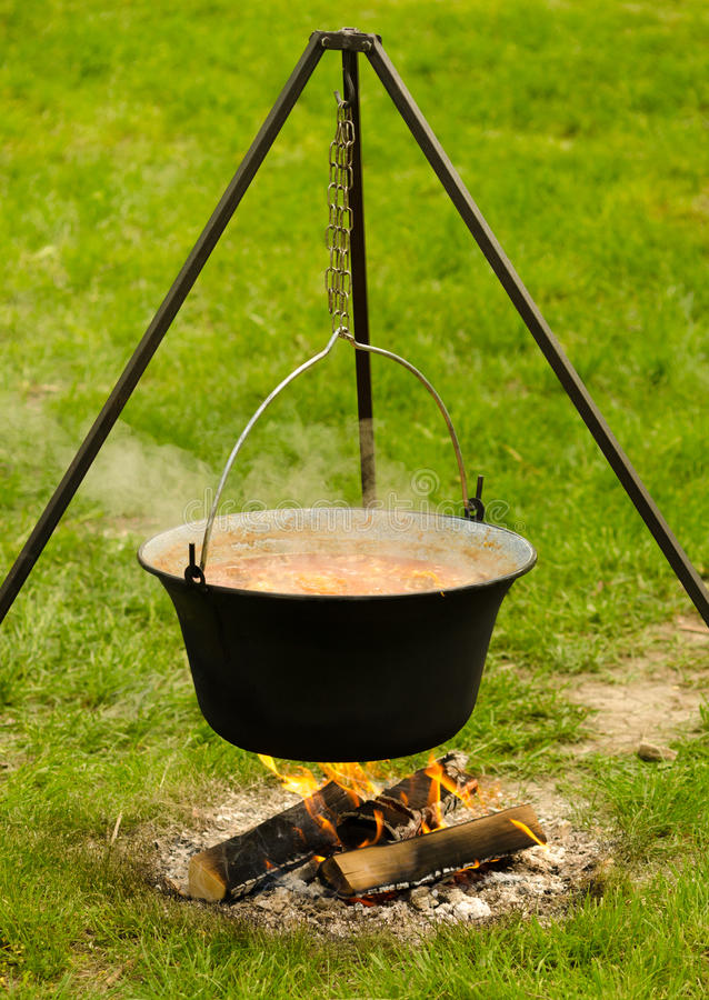 Download Cooking in the nature stock photo. Image of flame, outdoors - 30720796