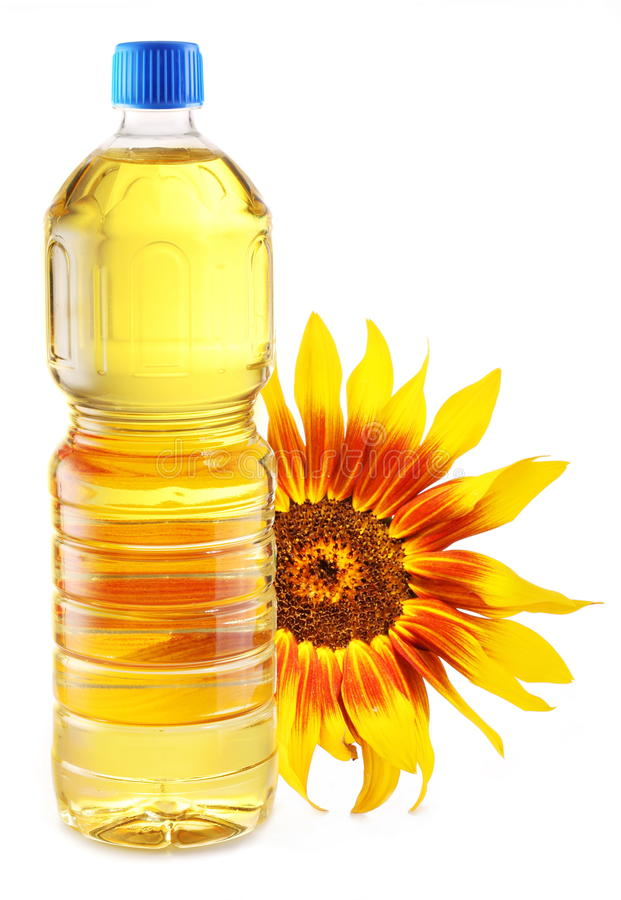Download Cooking Oil In A Plastic Bottle With Sunflower. Stock Photo - Image: 27159006