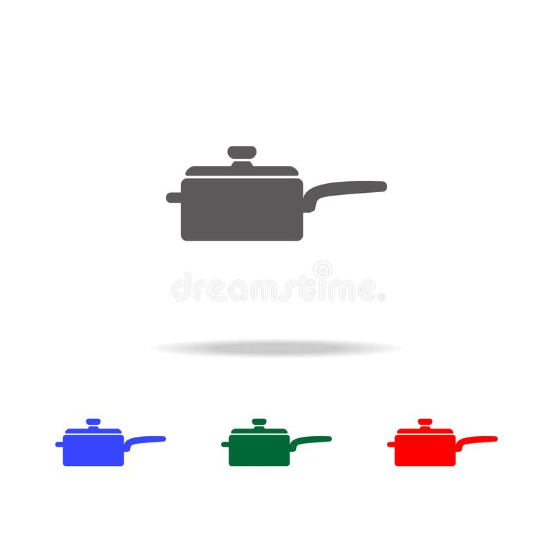 Cooking pan icon. Elements of cooking multi colored icons. Premium quality graphic design icon. Simple icon for websites, web desi. Gn, mobile app, info graphics vector illustration