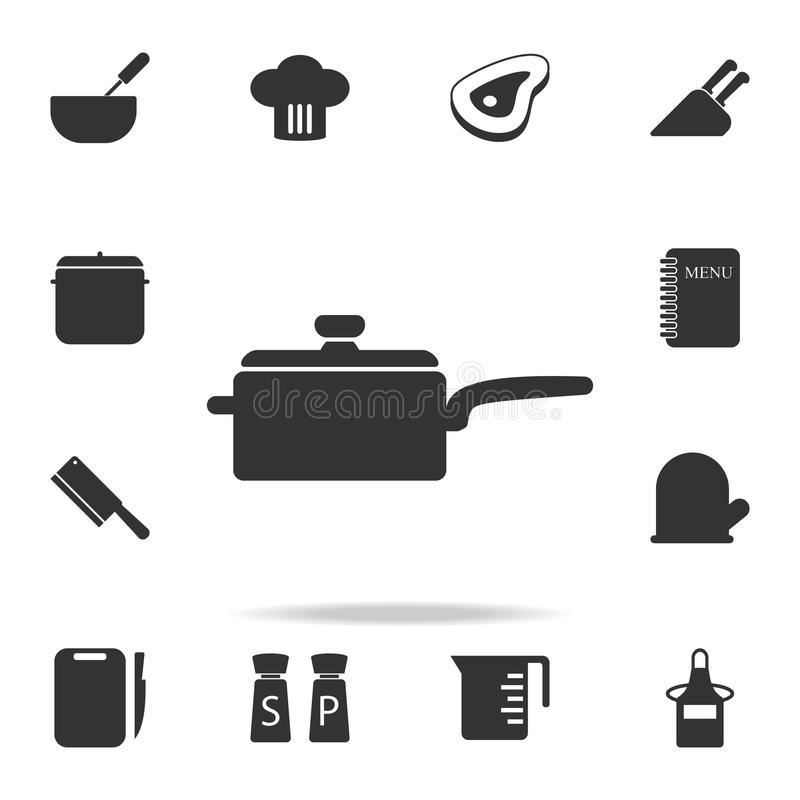 Cooking pan icon. Set of Chef and kitchen element icons. Premium quality graphic design. Signs and symbols collection icon for we. Bsites, web design, mobile app vector illustration