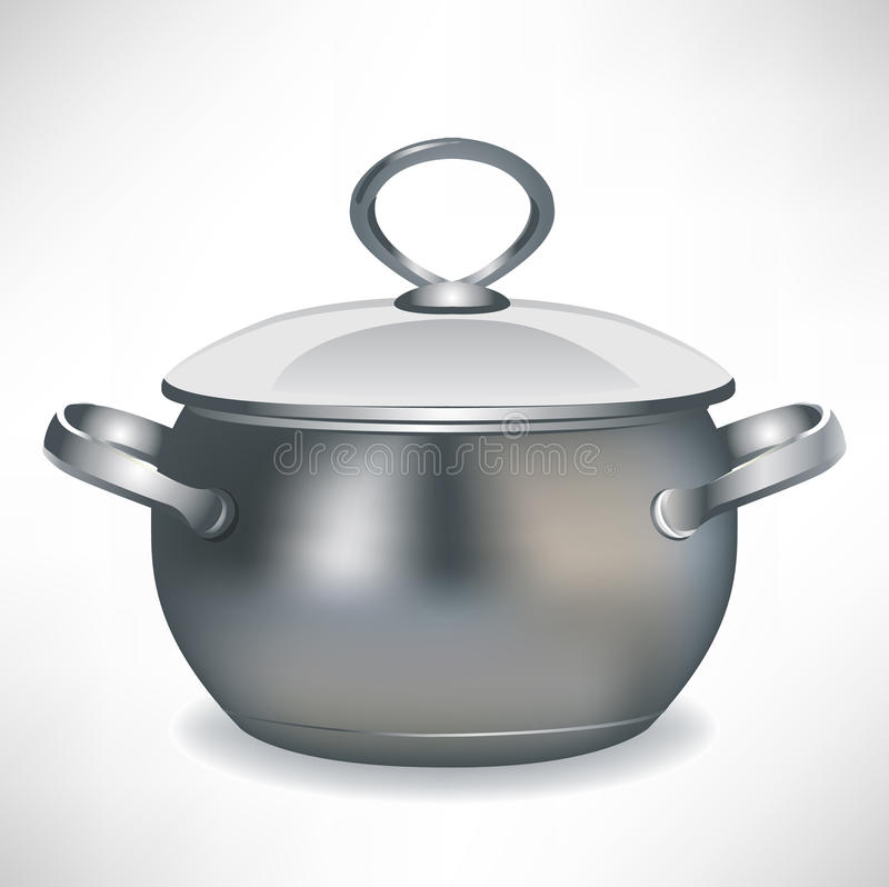 Cooking pan with lid vector illustration