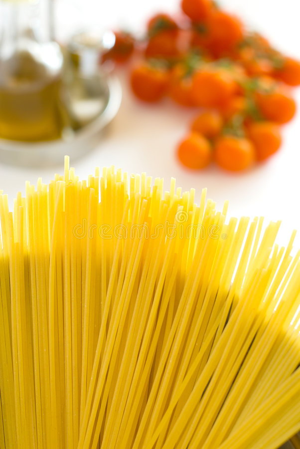 Cooking pasta royalty free stock image