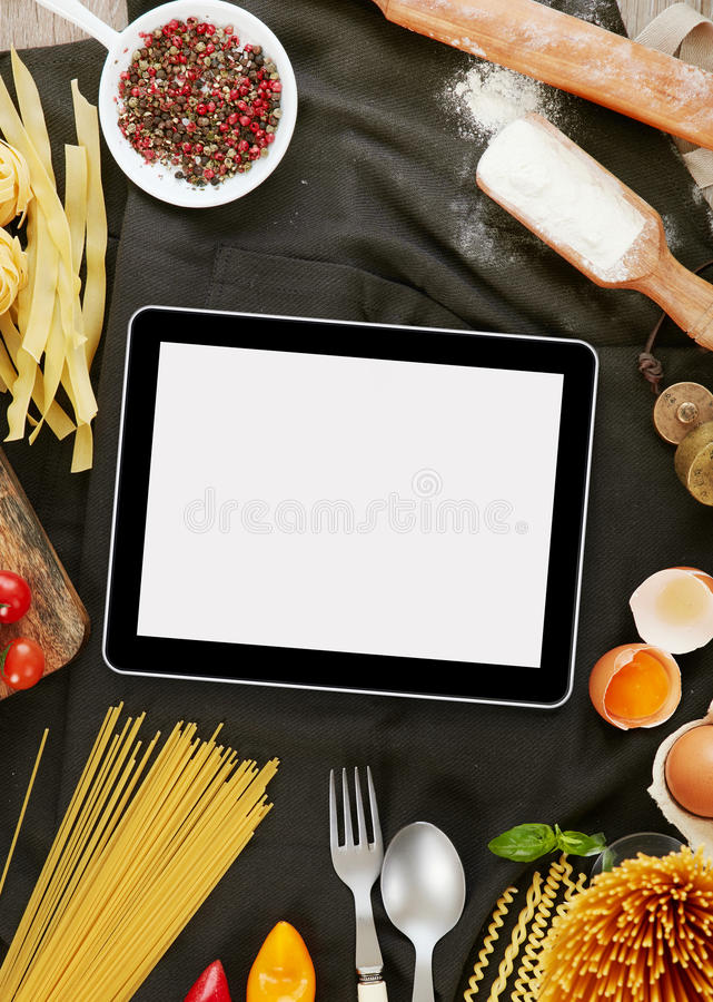 Cooking pasta stock photography