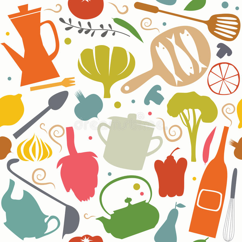 Free Cooking Pattern Royalty Free Stock Photography - 36932447