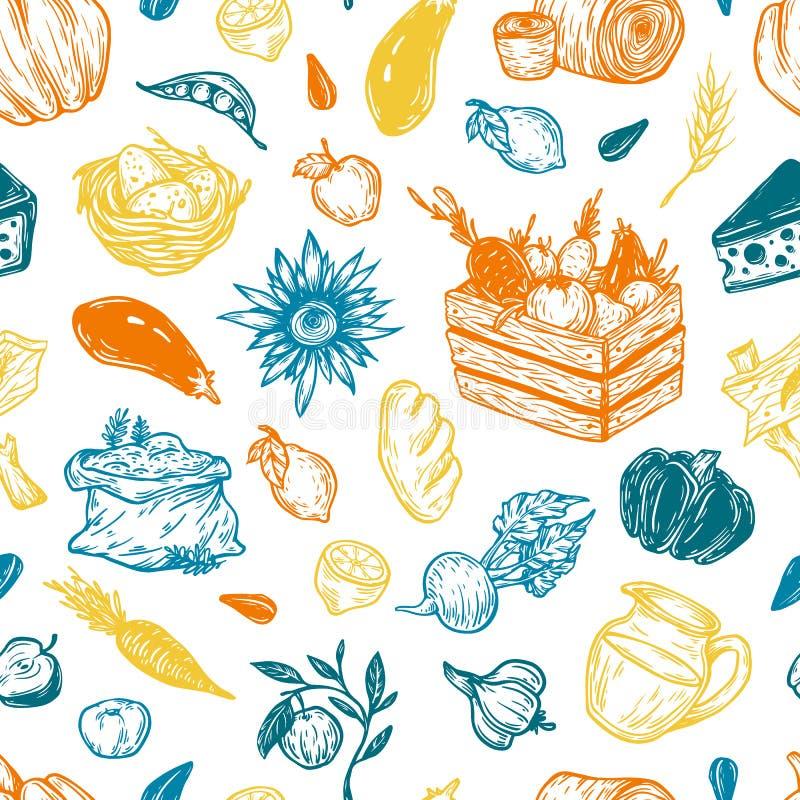 Cooking pattern. Kitchen seamless pattern. Cooking pattern vector illustration