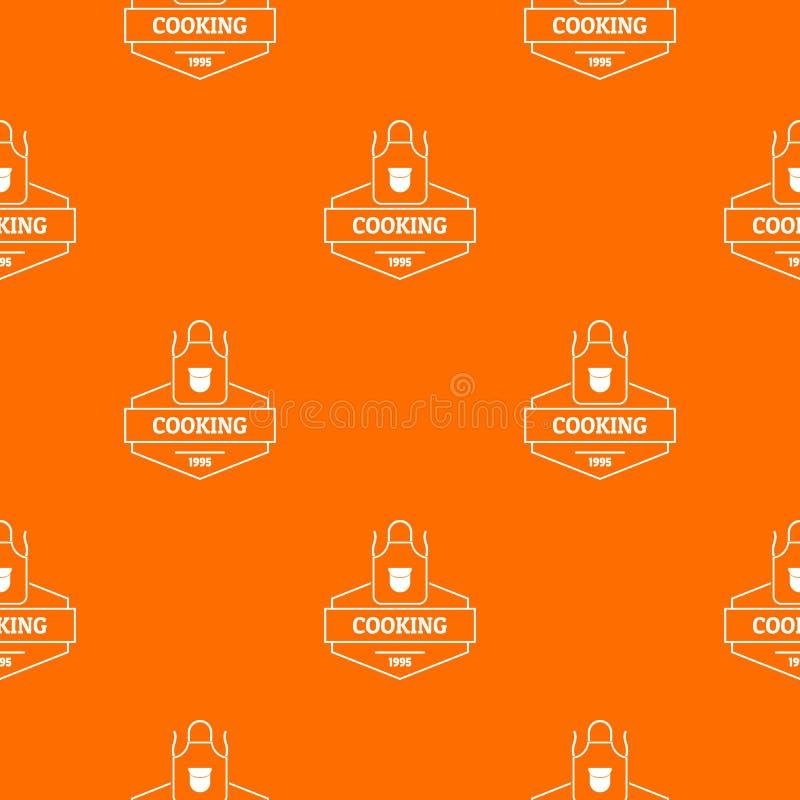 Cooking pattern vector orange. For any web design best vector illustration